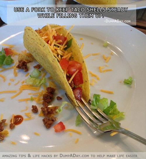Hold taco open tip