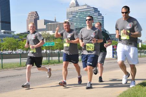 Members of the Coast Guard Marine Safety Unit in Cleveland participate in the Run to Remember event held in Cleveland, May 17, 2013.