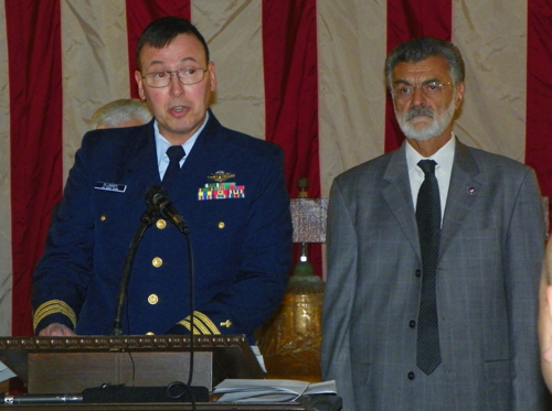 Commander Jeffrey S. Plummer and Mayor Frank Jackson