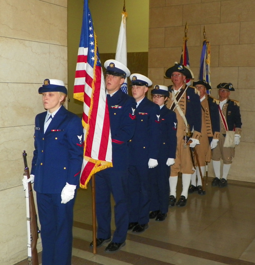 Color Guard at City Hall for Veterans Day