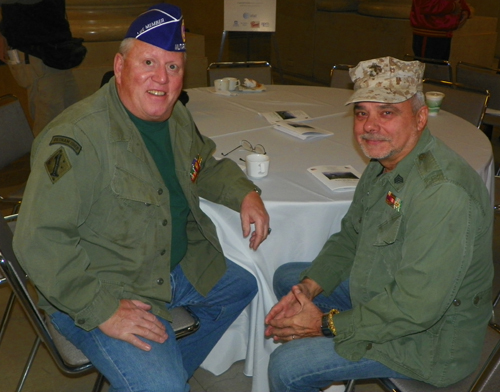 Sgt. Ron Corvett (Marines 6 years  Vietnam) Sgt. Jan Sroka (Marine 4 yrs VietNam)