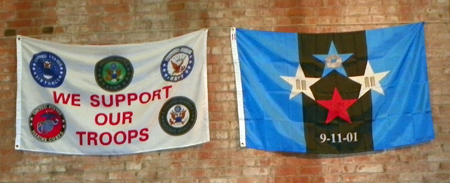 Support our Troops and Flight 93 banners
