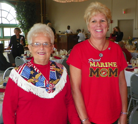 Betty Sullivan and Marine Mom Michelle Ek