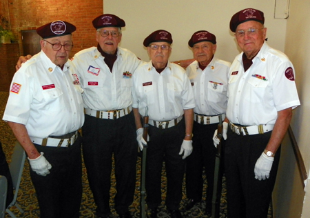 RVCC Color Guard - Vincent Fraciolo, Joseph J. Biel, Ed Morrow,  Marty Drabek and Skip Engel