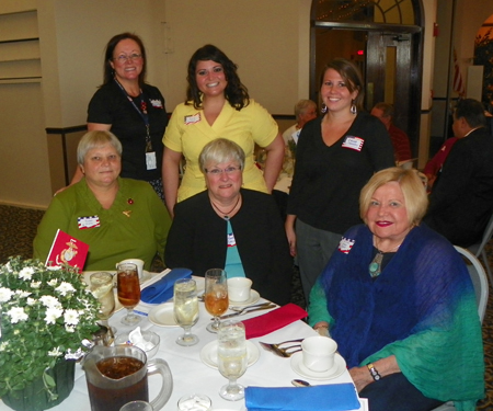 Back row Rosie Jovic, Cassie Gaffney, Judy K. Zamlen-Spots  Front row Susan Jovic, Mary Spada and Senator Grace Drake