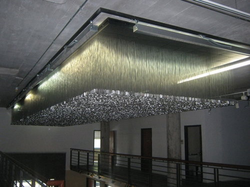 Dogs tags on ceiling