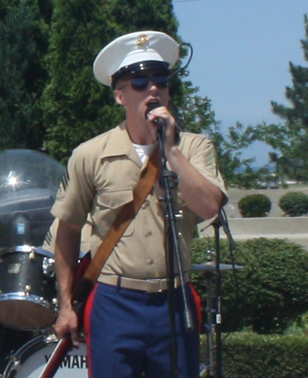 Quantico Marine Band at the Rock and Roll Hall of Fame and Museum in Cleveland