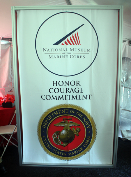 National Museum of the Marine Corps sign