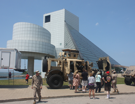 Marine vehicle at Rock and Roll Hall of Fame