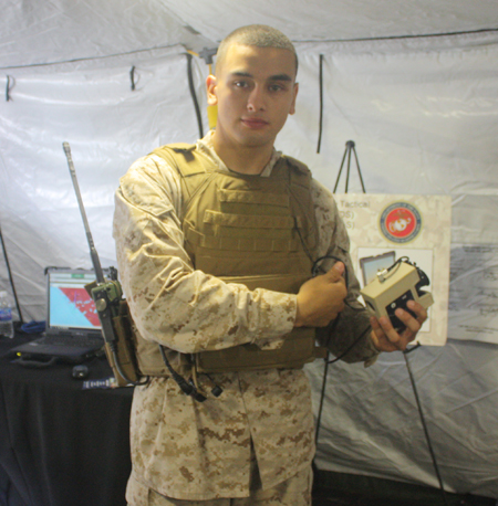 Marine with TLDHS Mobile device
