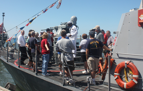 On ship demo at Navy Week Cleveland