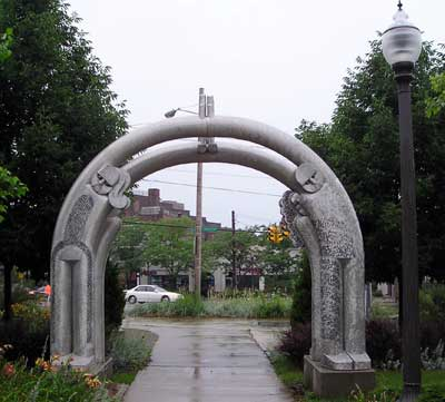 Coventry Road arch in Cleveland Heights