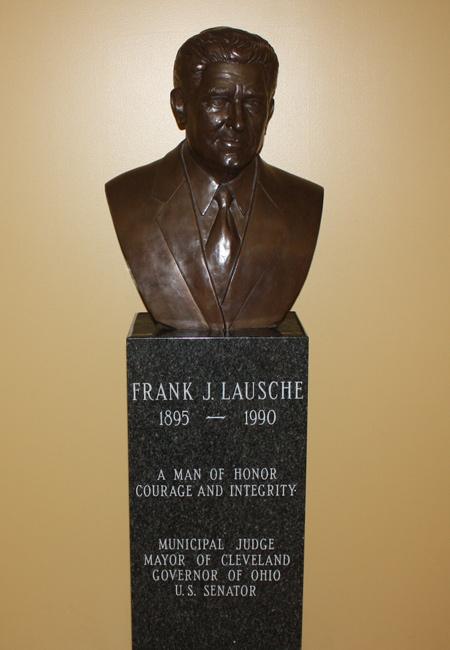 Frank J Lausche bust at St Mary Slovenian Church in Collinwood Cleveland