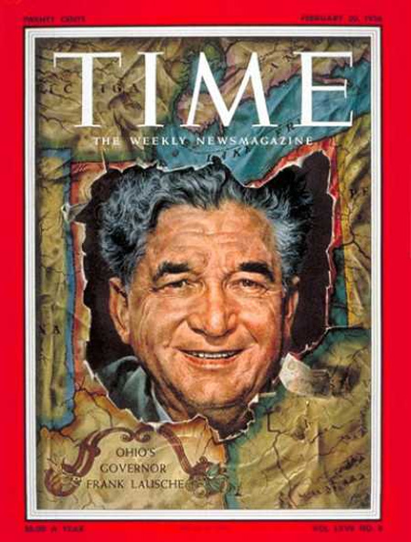 Frank J Lausche on Time Magazine cover