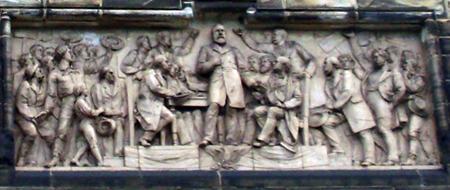 Bas relief at President Garfield monument in Cleveland Ohio