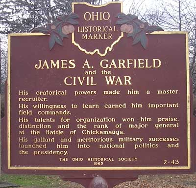 Ohio Historical Marker - James A Garfield