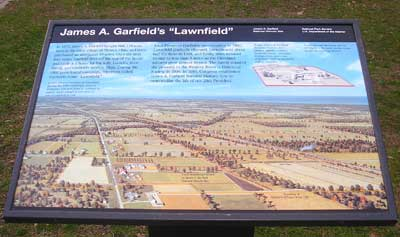 James Garfield Lawnfield monument map