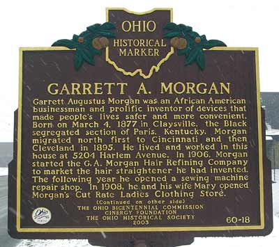 Garret A. Morgan Historical marker