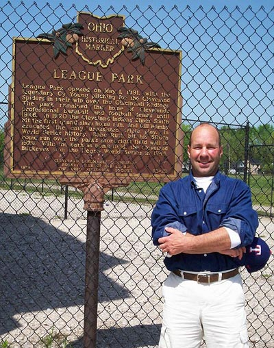 Rick Bloom at Cleveland's League Park