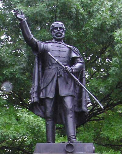 Louis Lajos Kossuth statue in Cleveland