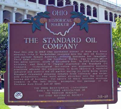 Standard Oil Ohio Historical Marker in Cleveland
