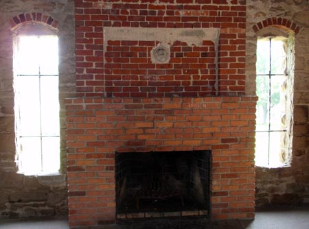 Squire's Castle fireplace -photos by Dan Hanson