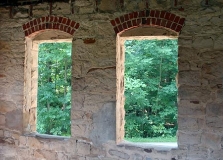 Squire's Castle windows - photos by Dan Hanson