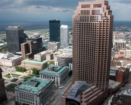 200 Public Square - BP Building from the Terminal Tower Observation Deck - photo by Dan Hanson
