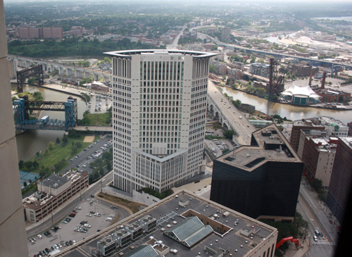Federal Courthouse - Photo by Dan Hanson from Cleveland's Terminal Tower Observation Deck