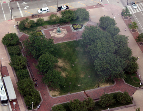 Public Square - Photo by Dan Hanson from Cleveland's Terminal Tower Observation Deck