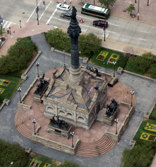 Soldiers and Sailors Monument - - Photo by Dan Hanson from Cleveland's Terminal Tower Observation Deck