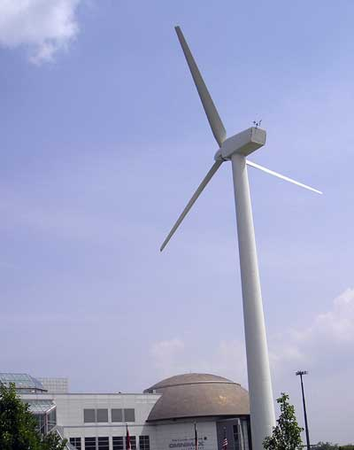 Wind Turbine at Great Lakes Science Center in Cleveland