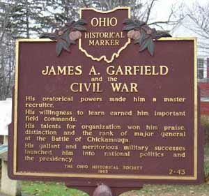 James A. Garfield and the Civil War monument