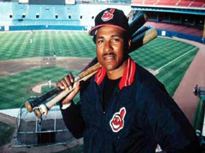 Andre Thornton at Cleveland Indians Municipal Stadium