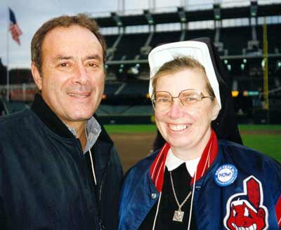 Sister Assumpta with Al Michaels