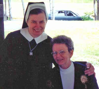 Sister Assumpta at the Jennings Center