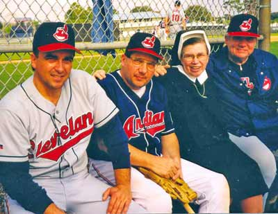 Brook Jacoby and Cleveland Indians coaches with Sister Assumpta