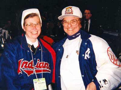 Sister Assumpta with New York Yankee manager Joe Torre's Sister