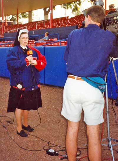 Sister Assumpta working for Channel 5