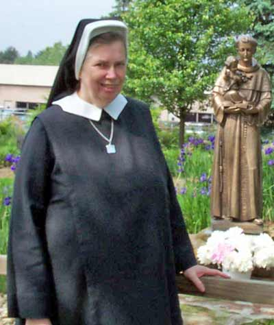 Sister Mary Assumpata on the Jennings grounds