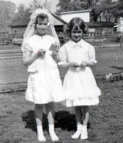 Sister Mary Assumpta - Helen's First Communion with Sarah McGowen - May 10, 1953