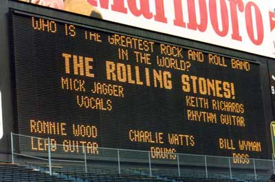 Rolling Stones concert at World Series of Rock at Cleveland Municipal Stadium