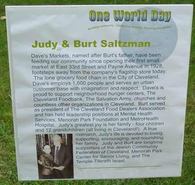 Judy & Burt Salzman One World Day