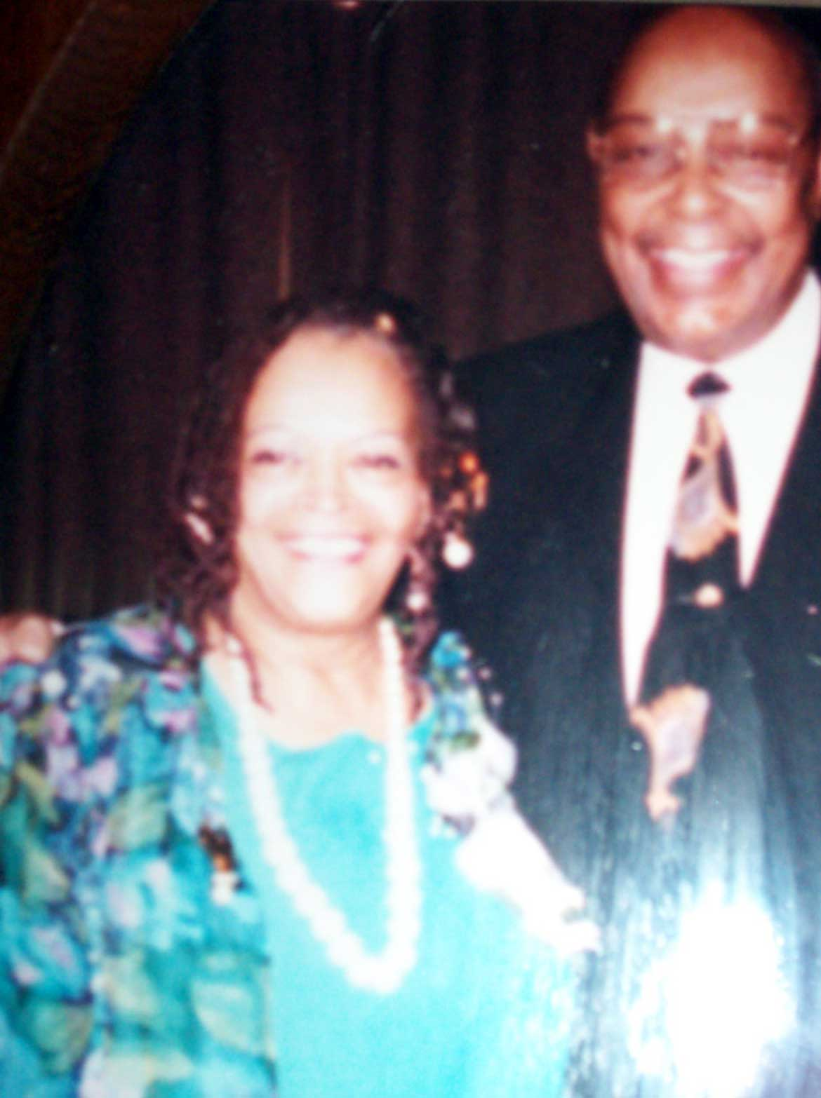 Juanita Carrothers with Lou Stokes