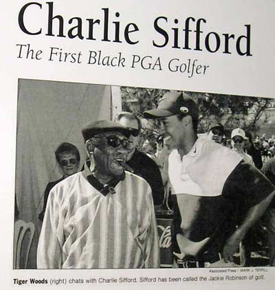 Charlie Sifford, the Jackie Robinson of Golf, with Tiger Woods