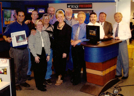 Dan Coughlin at Channel 8 with Ralph Tarsitano, Wilma Smith, Tim Taylor, Dick Goddard and others