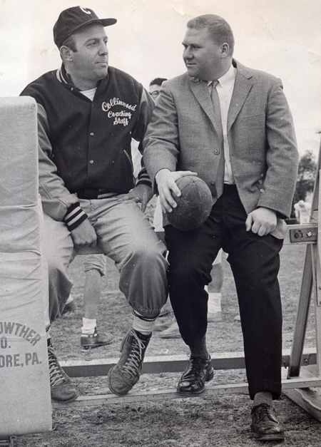 Dan Coughlin interviews Collinwood Football Coach Joe Trivisonno in 1965