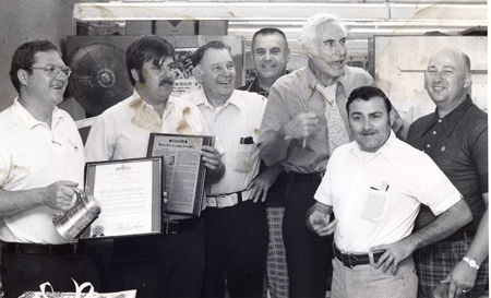 Dan Coughlin, Chuck Webster, George Peters, Ed Chay, Hal Lebovitz, Peppe Rocoo, Dick Zunt