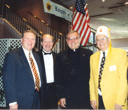 Dan Coughlin, Jack Marschall, Bishop Gries and Bob Tayek
