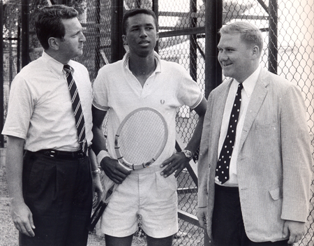 Jim Passant, Arthur Ashe and Dan Coughlin